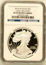 2010-W Silver Eagle NGC Proof 69 UCAM Early Releases