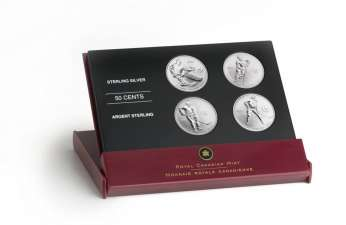 RCM 2005 50c Toronto Maple Leafs Sterling Silver 4 Coin Set
