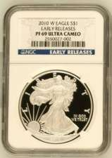 2010-W Silver Eagle NGC Proof 69 Ultra Cameo Early Releases