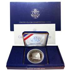 1987 US Mint Constitution Silver Dollar Proof Set 90% Silver